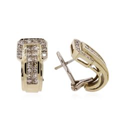 14KT Yellow Gold 1.72ctw Diamond Earrings