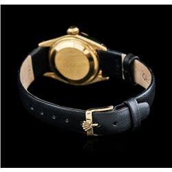 18KT Yellow Gold Rolex DateJust Ladies Watch