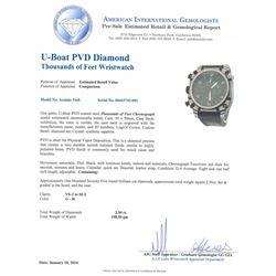 Gents U-Boat PVD Diamond Thousands of Feet Wristwatch