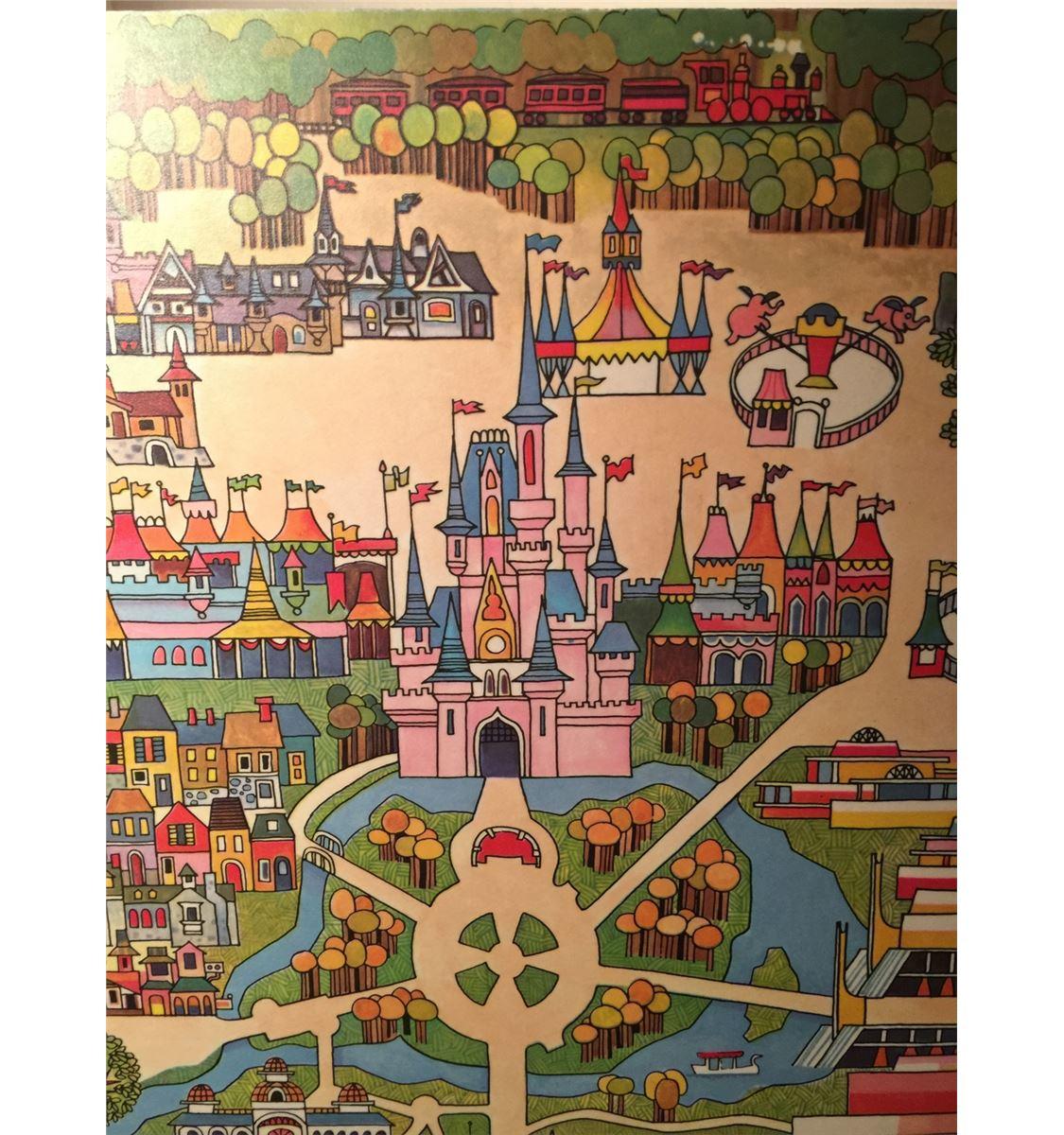 rare original 1971 walt disney world map wall art from polynesian hotel