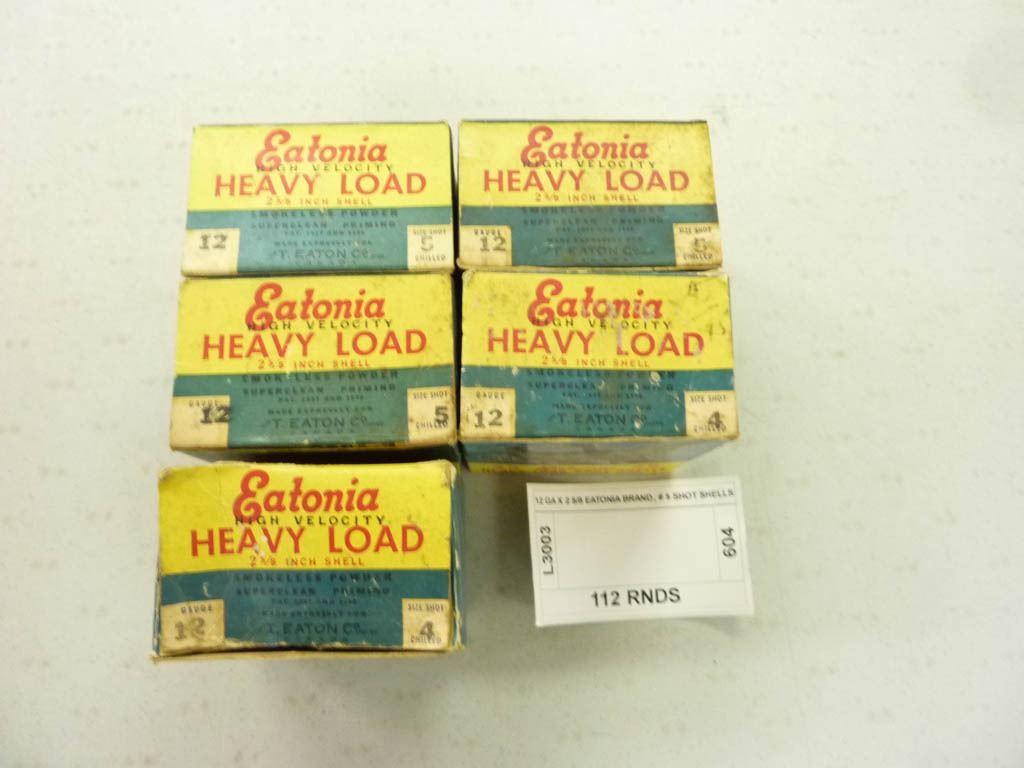 12 GA X 2 5/8 EATONIA BRAND, # 5 SHOT SHELLS