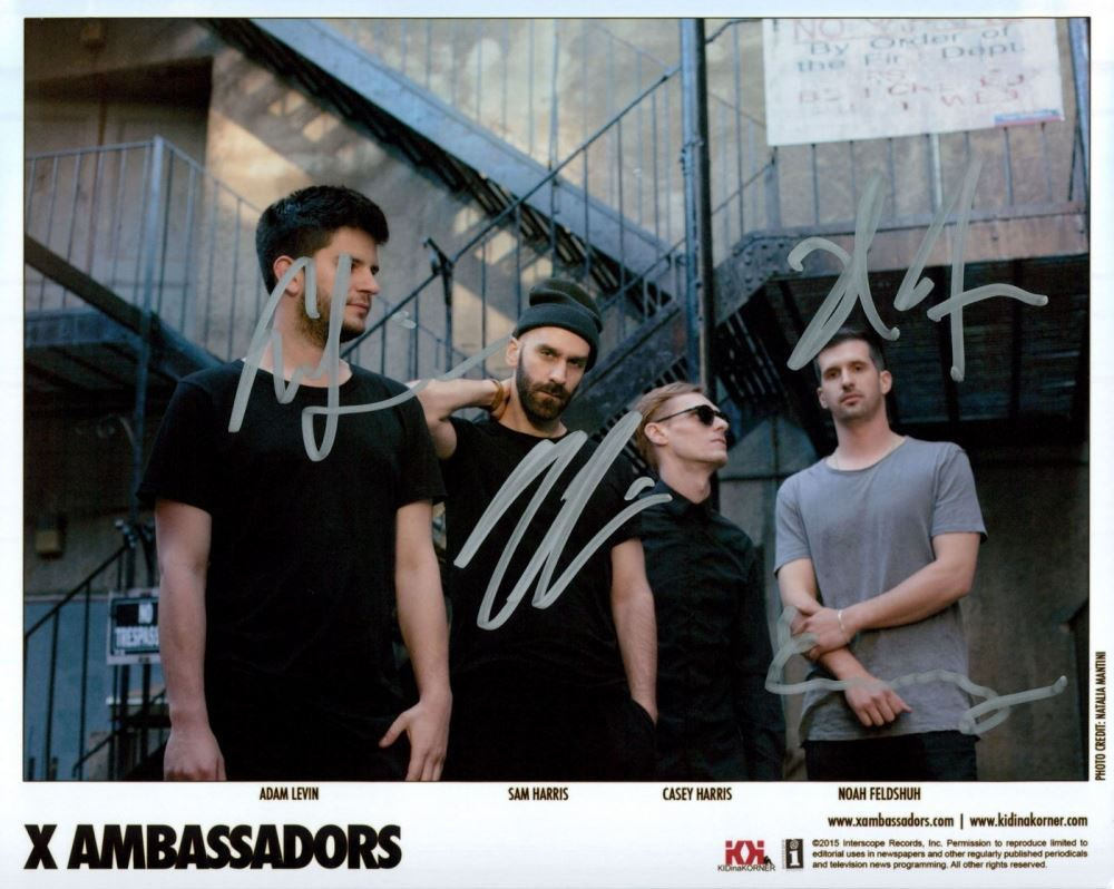 ba8a9e8fb44a Image 1   X Ambassadors Signed 8x10 Photo With (4) Signatures Including  Adam Levin