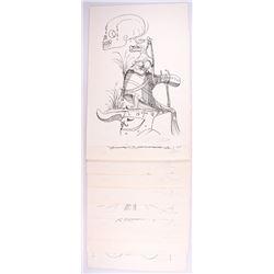 """Lot of (10) Salvador Dali Signed """"Les Songes Drolatiques (Comical Dreams) de Pantagruel"""" 21x30 LE 19"""