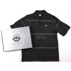 Tiger Woods Signed Tournament Worn Black Nike Golf Shirt #1/1 (UDA COA)
