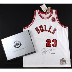Michael Jordan Signed LE Authentic Mitchell & Ness 1984-85 Bulls Rookie Jersey with ROY Patch #94/12