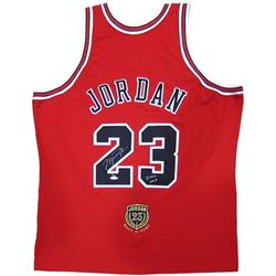 "Michael Jordan Signed Bulls Hall of Fame LE Authentic Jersey Inscribed ""2009 HOF"" (UDA COA)"
