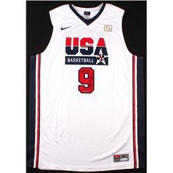 "Michael Jordan Signed Team USA ""Dream Team"" Nike Authentic Jersey Inscribed ""2009 HOF"" (UDA COA)"