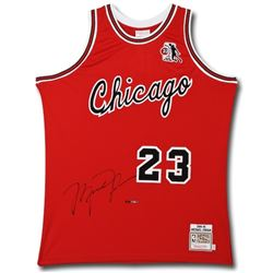 """Michael Jordan Signed Limited Edition Authentic Mitchell & Ness 1984-85 """"Rookie of the Year"""" Bulls J"""