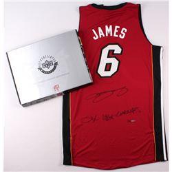 "LeBron James Signed Miami Heat Authentic Adidas Alternate Jersey Inscribed ""2x NBA Champs"" (UDA COA)"