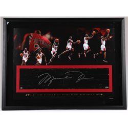 Michael Jordan Signed Bulls 26x36 LE Custom Framed Authentic Game-Used Floor Piece (UDA COA)