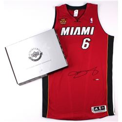 LeBron James Signed LE Miami Heat Authentic Adidas Alternate Jersey with Back to Back Finals MVP Pat