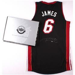 LeBron James Signed Miami Heat Authentic Adidas Away Jersey (UDA COA)