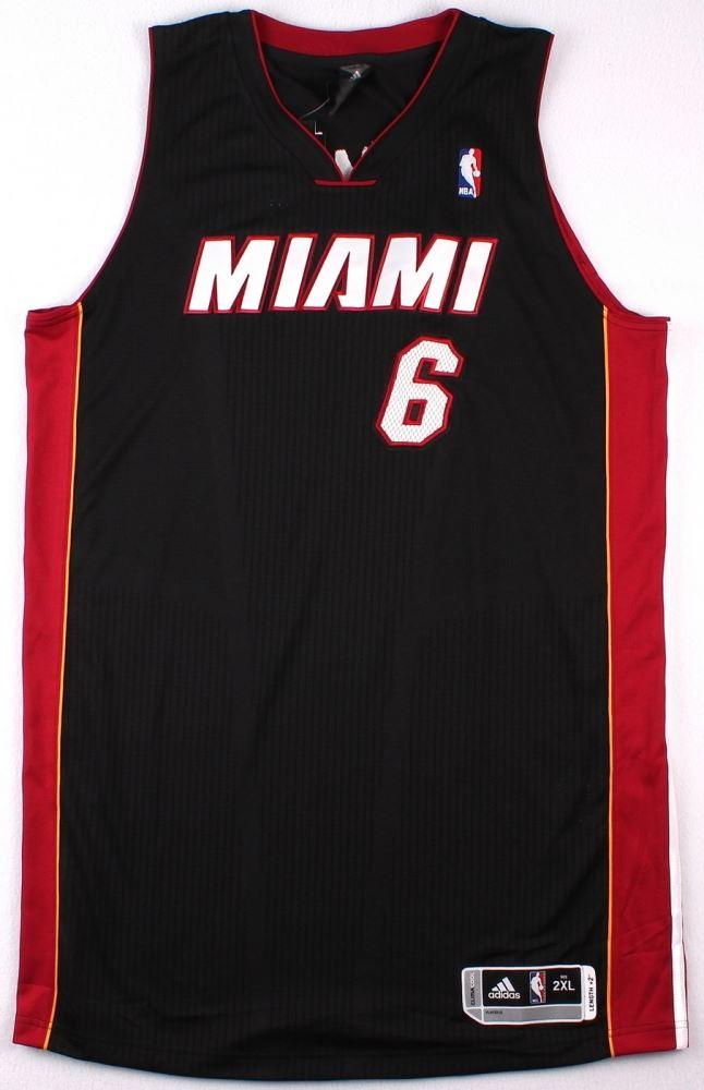 d3550a4da4f9 ... Image 4   LeBron James Signed Miami Heat Authentic Adidas Away Jersey  (UDA COA) ...