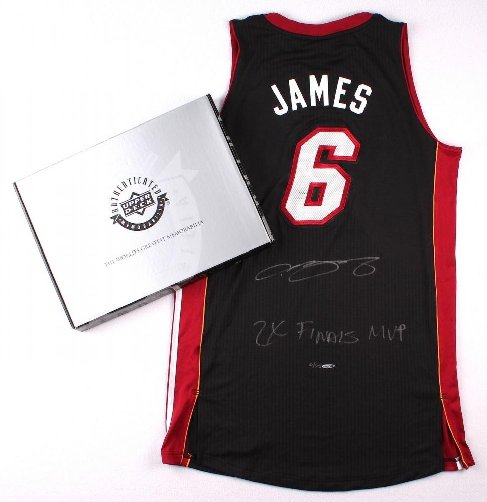 63e4b4cbf6e3 Image 1   LeBron James Signed LE Miami Heat Authentic Adidas Away Jersey  Inscribed