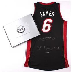 """LeBron James Signed LE Miami Heat Authentic Adidas Away Jersey Inscribed """"2x Finals MVP"""" #6/25 (UDA"""