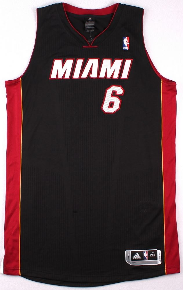 bba9a102191b ... Image 4   LeBron James Signed LE Miami Heat Authentic Adidas Away Jersey  Inscribed