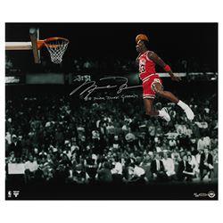 "Michael Jordan Bulls Signed LE ""1988 Slam Dunk Champ"" 20x24 Photo (UDA COA)"