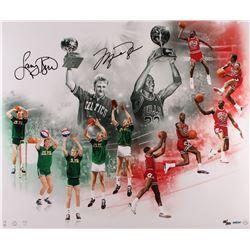 "Michael Jordan & Larry Bird Dual Signed LE ""All Star Saturday Night"" 20x24 Photo #18/50 (UDA COA)"