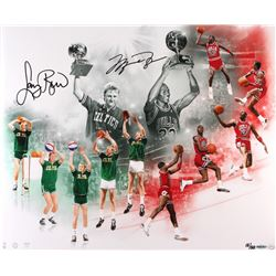 "Michael Jordan & Larry Bird Dual Signed LE ""All Star Saturday Night"" 20x24 Photo (UDA COA)"