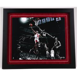 """Michael Jordan Signed LE 27"""" x 23"""" Custom Framed 20"""" x 16"""" """"Colors of the Game"""" Photo Display #22/12"""
