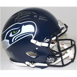 Russell Wilson Signed Seahawks Super Bowl XLVIII Champions Full-Size Authentic Pro Line Speed Helmet