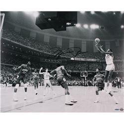 """Michael Jordan Bulls Signed """"UNC 17 Second"""" 20x24 Photo (UDA COA)"""