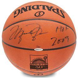 "Michael Jordan Signed LE 50th Anniversary HOF Official NBA Game Ball Inscribed ""HOF 2009"" (UDA COA)"