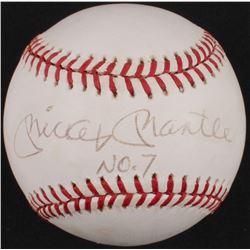 "Mickey Mantle Signed OAL Baseball Inscribed ""No. 7"" (PSA LOA)"