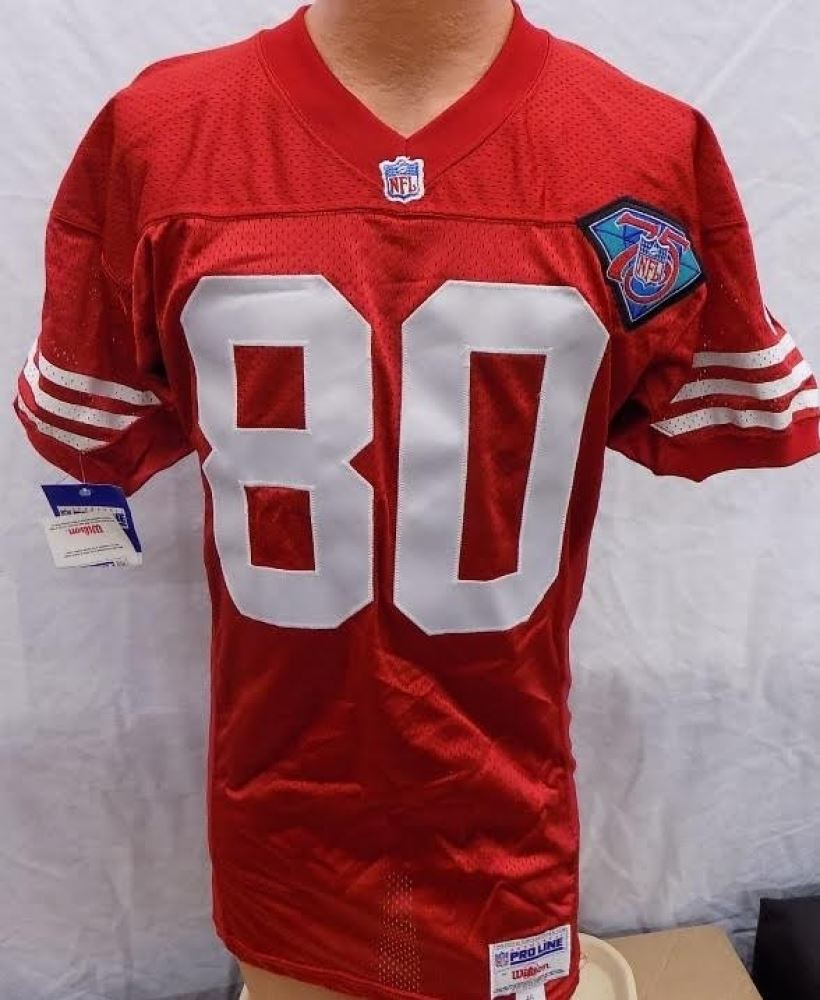 size 40 d1642 a99f1 Jerry Rice Signed 49ers Wilson Authentic Pro Line 1994 NFL ...