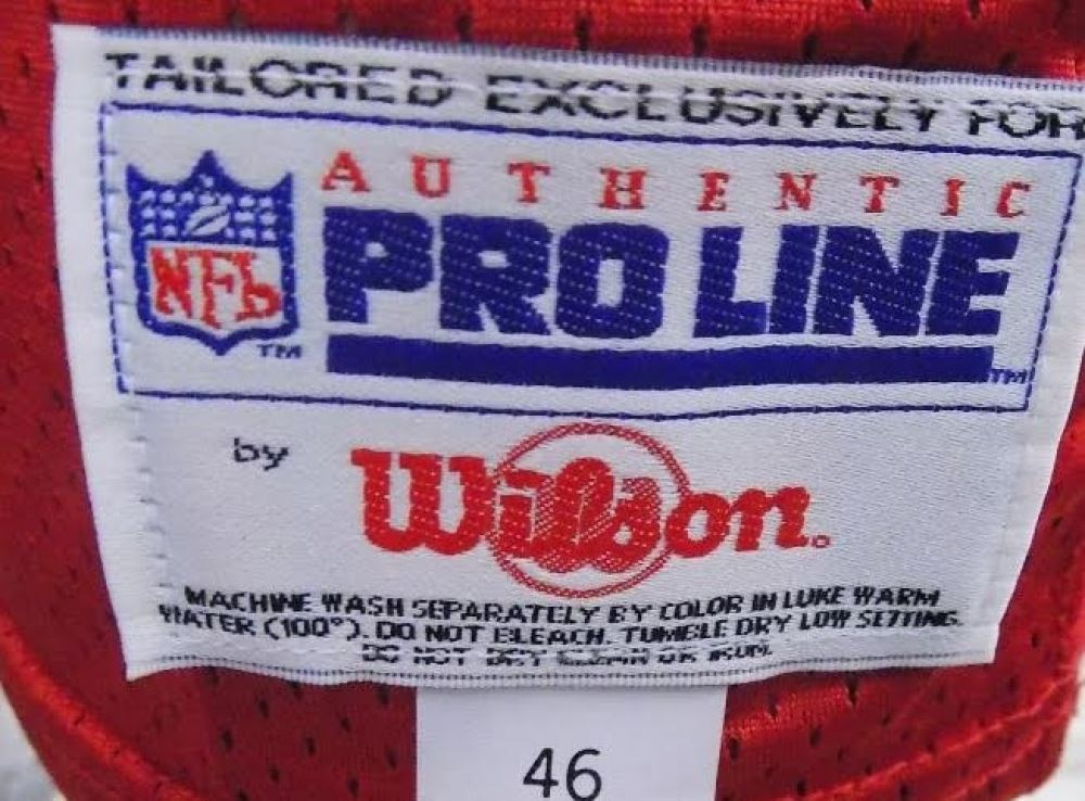 size 40 06c90 996bb Jerry Rice Signed 49ers Wilson Authentic Pro Line 1994 NFL ...