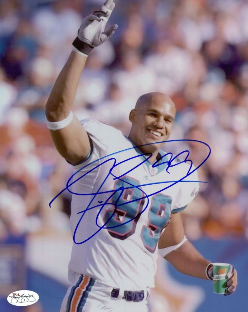 outlet store b6df3 b4143 Jason Taylor Signed Dolphins 8x10 Photo (JSA SOA)