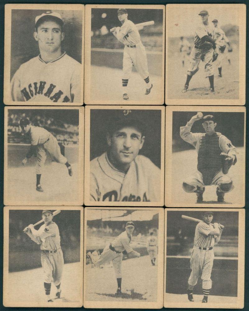Lot Of 9 1939 Play Ball Baseball Cards With 28 Sylvester Johnson
