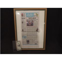 BACK TO THE FUTURE 2 SCREEN USED NEWSPAPER