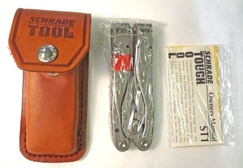 Schrade Multi-Tool New w/ Lifetime Warranty and Dbl Thick leather pouch