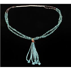 2 Strand Turquoise Nugget Necklace