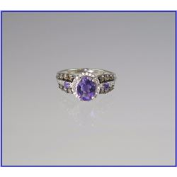 Wonderful Amethyst & Diamond Ring