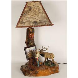 Frederic Remington Figural Lamp