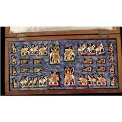 Beautifully Ornate Ebony & Ivory Chess Set