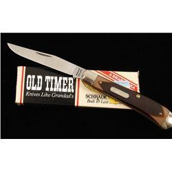 """Schrade """"Old Timer"""" Linerlock Pocket Knife"""