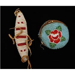Antique Old West Sioux Indian Beaded Pouch