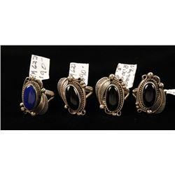 4 Vintage Native American Rings