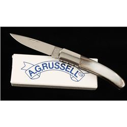 Signed A.G. Russell 1-Blade Pocket Knife