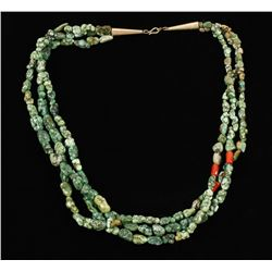 3 Strand Oriental Turquoise Necklace