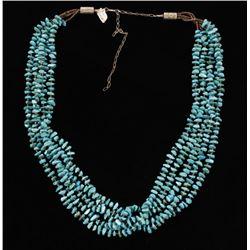 Kingman 5 Strand Turquoise Necklace