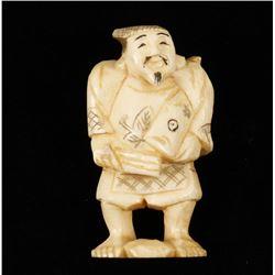 Ivory Figurine of Japanese Fisherman
