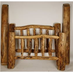 Custom Made Aspen Wood Log Bed