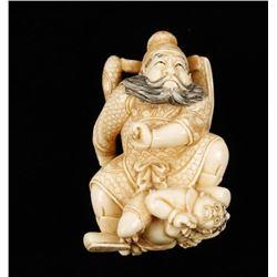 Ivory Samurai Warrior Netsuke