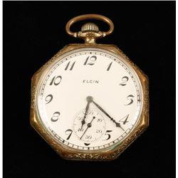Elgin Open Faced Pocket Watch