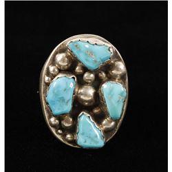 Mens Navajo Turquoise Ring