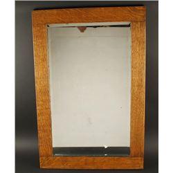 Antique Oak Framed Mirror